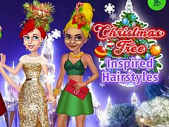 Christmas Tree Inspired Hairstyles